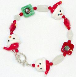 Ho Ho Ho! Santa Bracelet and Earring Set