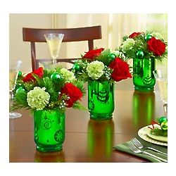 Christmas Trio Floral Centerpiece