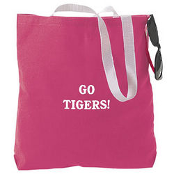 Personalized Large Dark Pink Tote Bag