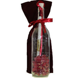 You Are So Special Engraved Message in a Bottle with Rose Petals