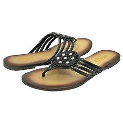 Women's Boho Chic Black Sandals