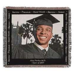 Landscape Graduation Photo Blanket