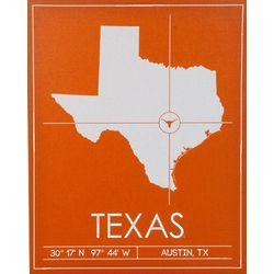 Texas Longhorns 20x25 University Map Canvas Wall Art
