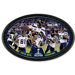 Seattle Seahawks Super Bowl XLVIII Framed Collector Plate