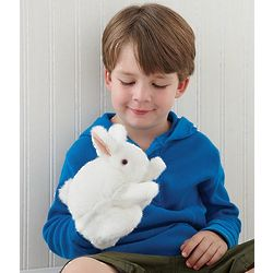 Fluffy Bunny Hand Puppet