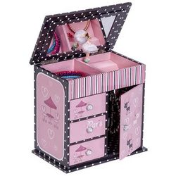 Parisian Poodle Girl's Musical Ballerina Jewelry Box