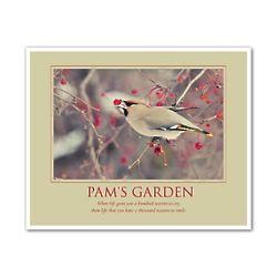 Pam's Garden Personalized Art Print