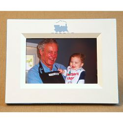 Hand-Painted Train Picture Frame