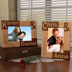 Personalized You and I Wooden Picture Frame