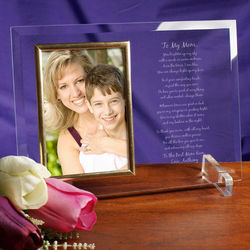 Personalized Mother's Day Beveled Glass Picture Frame