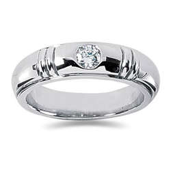 0.40 ctw Men's Diamond Ring in 18K White Gold