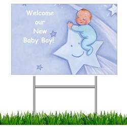 Welcome Our New Baby Boy! Yard Sign