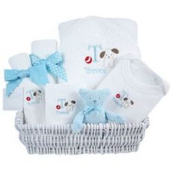 Luxury Puppy Themed Baby Gift Basket