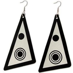 Copacabana Eclipse Recycled Vinyl Record Dangle Earrings