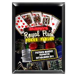 Personalized Marquee Nighttime Royal Flush Traditional Sign