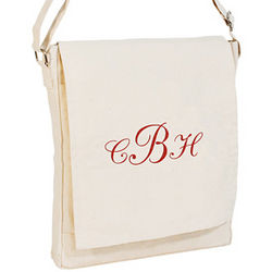 Monogrammed Organic Cotton Urban Bag