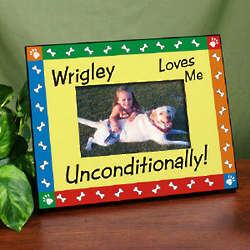 Unconditional Love Dog Printed Frame
