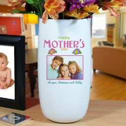Personalized Photo Ceramic Happy Mother's Day Vase