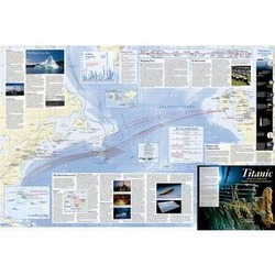 Titanic 100th Anniversary Laminated Map