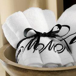 Monogrammed Washcloths