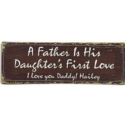 Personalized First Love 6x18 Canvas for Dad
