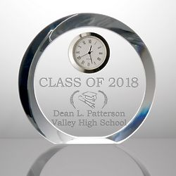 Personalized Crystal Graduation Clock