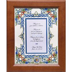 Personalized Irish Wedding Blessing Framed Print