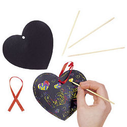 Magic Color Scratch Heart Art Project