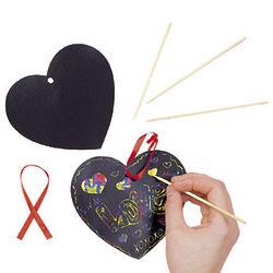 Magic Color Scratch Heart Art Project