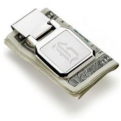 Dalton Engraved Folding Money Clip