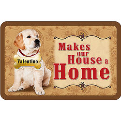 Personalized Dog Makes Our House a Home Doormat