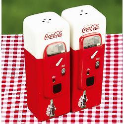 Coca Cola Vending Machine Salt and Pepper Shakers