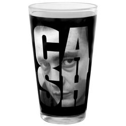 Johnny Cash Glass Pint Glasses