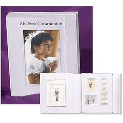 First Communion Rosary and Book Gift Set