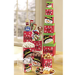 Let It Snow Gift Tower