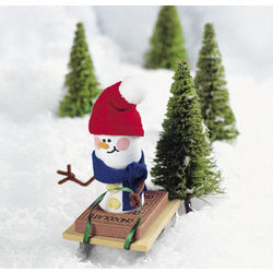 Sled Riding Marshmallow Snowman Ornament Craft Kit
