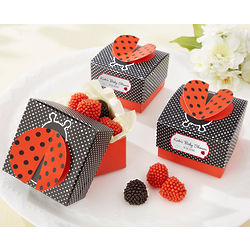 Cute As a Bug 3-D Wing Ladybug Favor Box