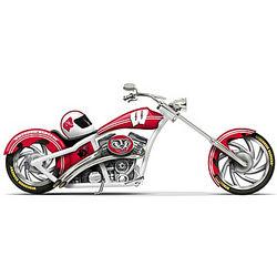 Go Badgers University of Wisconsin Motorcycle Figurine