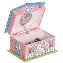 Swan Lake Girl's Musical Horse Jewelry Box