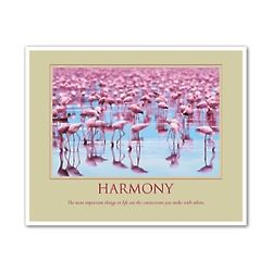 Harmony Flamingos Personalized Art Print