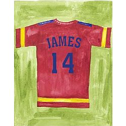 Personalized Football Jersey Canvas Wall Art
