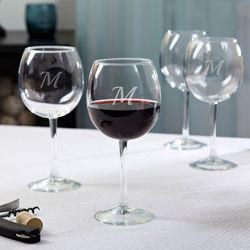 Contempo Personalized Red Wine Glasses