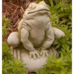 Frankie the Crouching Frog Garden Statue