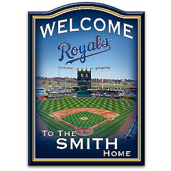 Personalized Kansas City Royals Welcome Sign