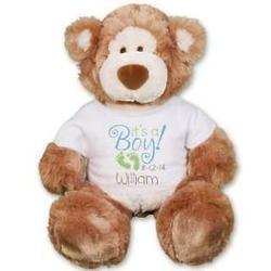"Personalized It's A Boy 18"" Teddy Bear"