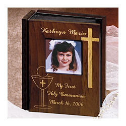 First Communion Wooden Album