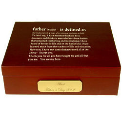 Definition of a Father Keepsake Box