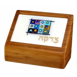 Twelve Tribes Bamboo Tzedakah Box