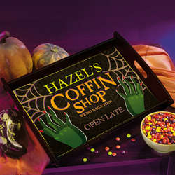 Personalized Halloween Serving Tray