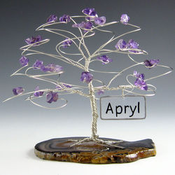 Personalized Name Birthstone Tree